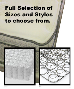 Full Selection of Mattress Sizes. Styles and Comfort Features
